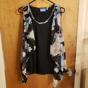 ⚡5 for $25⚡Simply vera wang tank with sheer panel